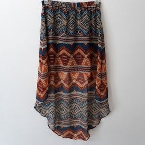 Forever 21 High Low Print Skirt Size M